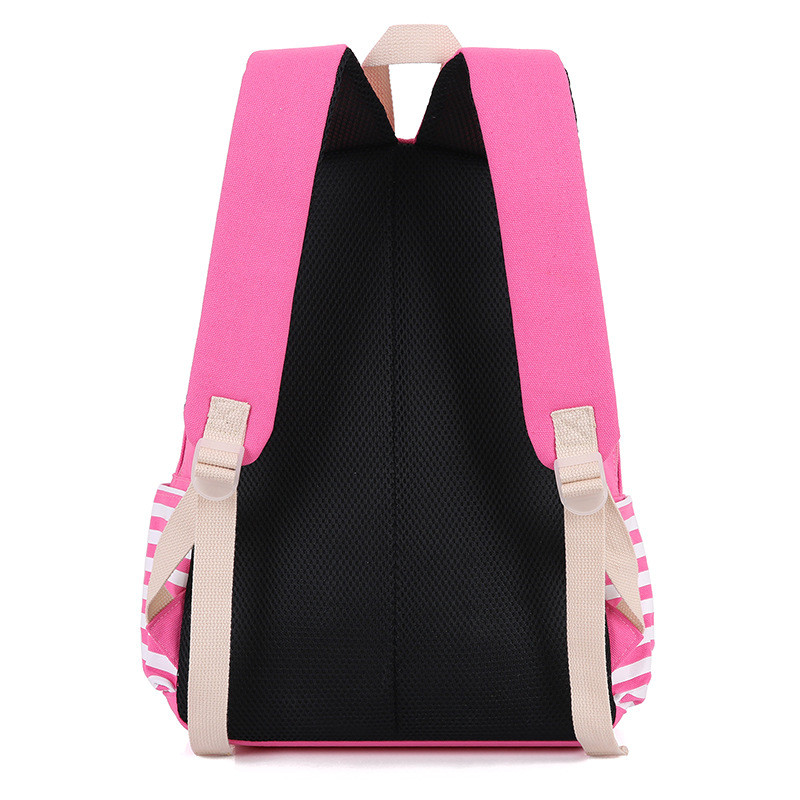 Fashion Striped Backpack Canvas Bag Large capacity Backpack School Bags For Teenagers Durable Laptop Backpack Travel Bag