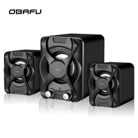 Wired Computer Speaker Subwoofer Stereo Bass USB 2.1 Speaker 3D Atmosphere PC Portable Speakers for Laptop Notebook Computer