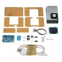 Environment Detector PM2.5 DIY Kit Air Quality Monitor with Transparent Case LCD laser sensor& DHT11 temperature humidity sensor