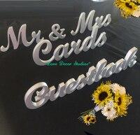 Düğün set işaretleri Mr & Mrs İşaretİ artı Kartları artı Ziyaretçi Defteri düğün resepsiyon dekor Rustik işaretleri Fotoğraf Prop düğün