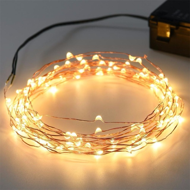 Kohree 40ft 120 Micro LED String Lights Battery Powered Fairy Decorative Rope