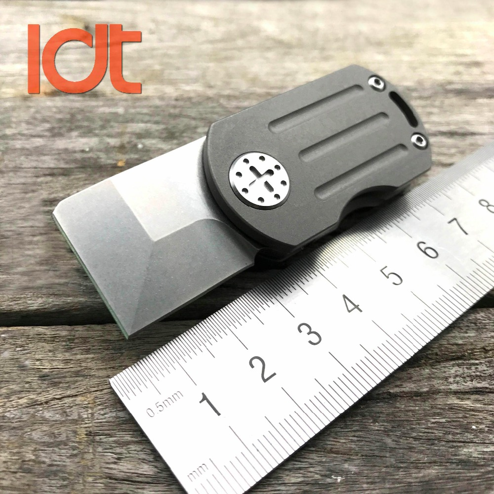 LDT ODT Folding Knife Real M390 Blade Titanium Handle Flipper Mini EDC Tools Outdoor Camping Survival Knives Pocket Keychain