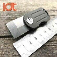 Ldt odt cuchillo plegable real m390 hoja titanium mango flipper mini edc supervivencia que acampa cuchillos de bolsillo herramientas al aire libre llavero