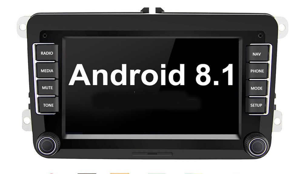 Android 8.0 クアッドコアカー Dvd Gps ナビのフォルクスワーゲン VW シュコダオクタゴルフ 5 6 トゥーランパサート B6 ポロティグアンプレーヤーオーディオ