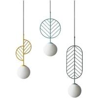 Nordic asılı aydınlatma armatürleri basit modern kolye ışıkları Cafe restoran kolye lambaları macarons bırakır deco aydınlatma armatürleri