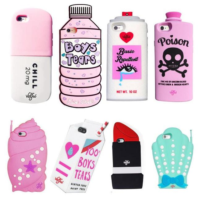 wholesale dealer 9aecc 13b4c US $3.69 |New Arrival Hot 3D Cute cartoon Lipstick Beverage bottle A skull  cat pill soft cellphone silicone case For iphone 6S 6S Plus 5S on ...