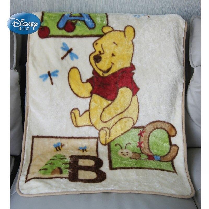 Couverture épaisse en peluche bébé Disney   Winnie Bear Friends Mickey Minnie, 90x120cm pour enfants garçons filles sur lit, canapé, avion/berceau