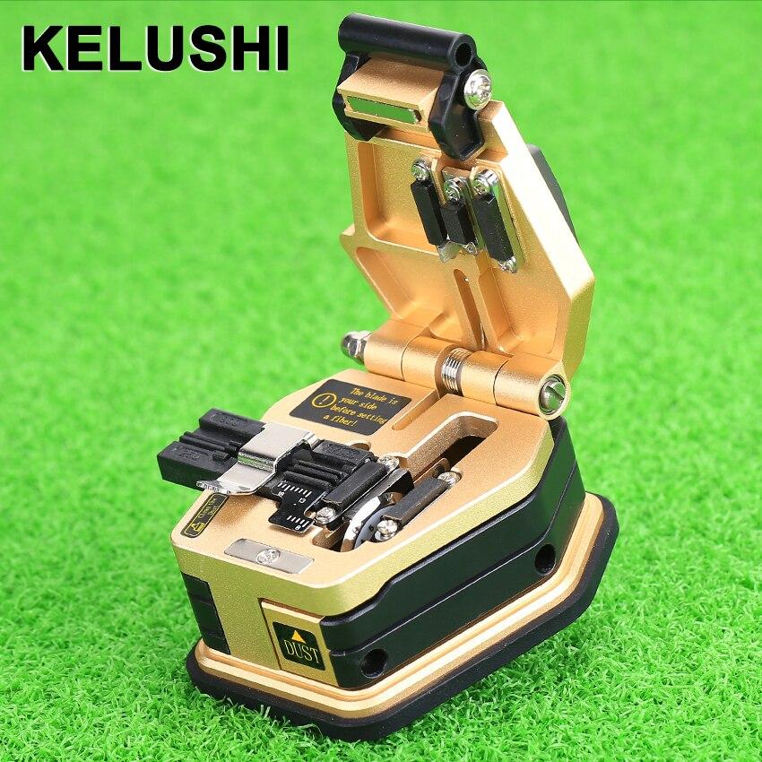 Kelushi Волокно Кливер skl-6c кабель Резка Ножи fttt Волокно оптическое Ножи Инструменты резак высокой precision16 поверхности лезвия