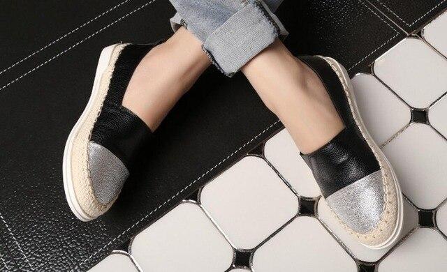 34-43 Большой размер обуви кожа повседневная обувь рыбак беременных леди туфли на плоской подошве