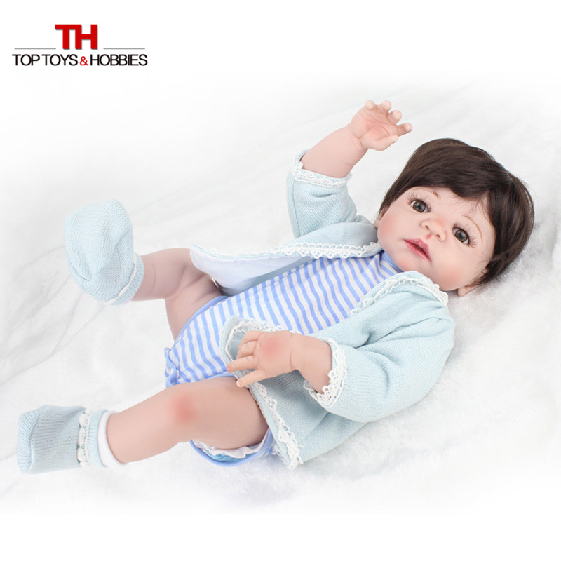 NPKDOLL 22 Inches Boy Doll Reborn Full Silicone Vinyl Body Newborn Babies Dolls toys for Children bebe gift bonecas Menina 22 full body silicone vinyl boy girl dolls reborn fake reborn babies dolls for children gift can enter water bebe alive boneca