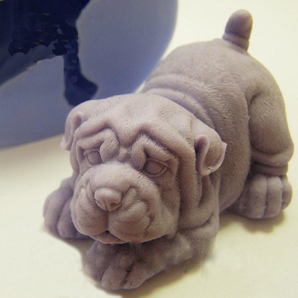 Shar Pei Dog 3d Silicone Molds Soap Mold 3d Dog Silicone