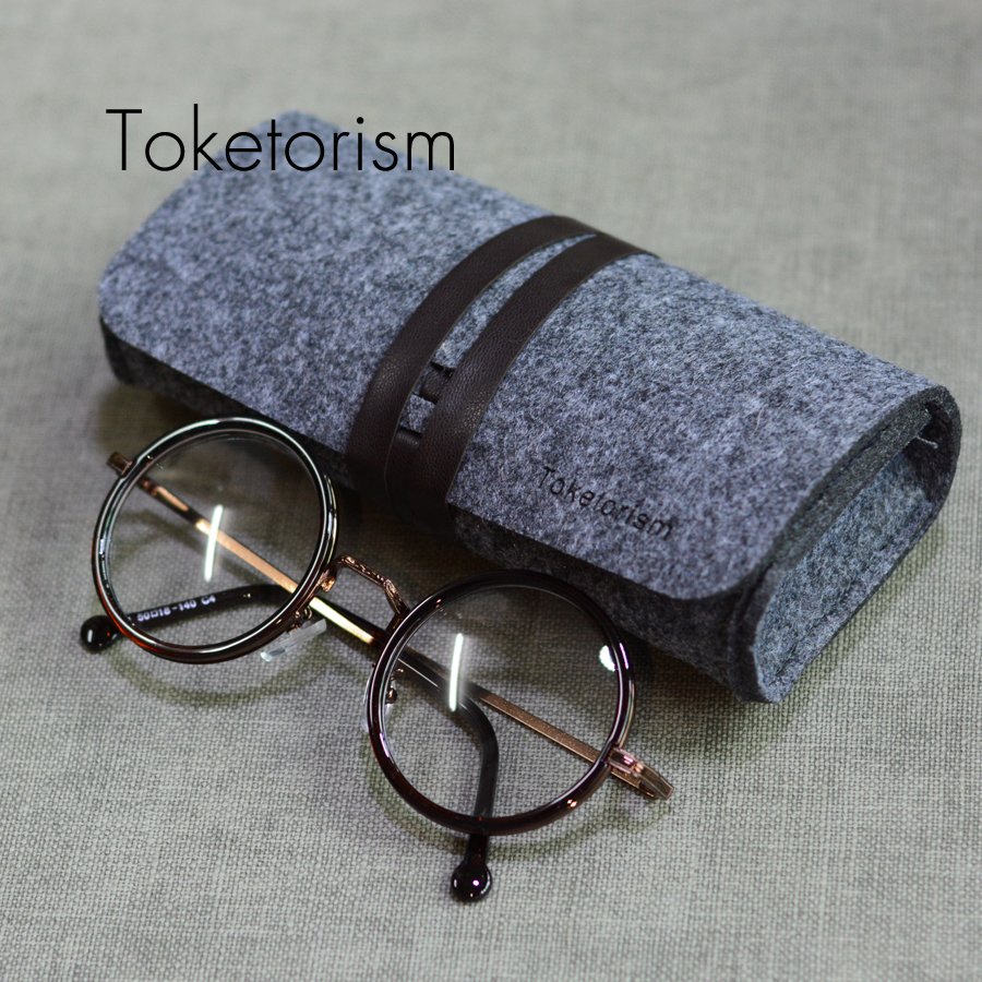 Toketorism Retro Felt Bag For Glasses Ultralight Portable Box Occhiali Da Sole Super Vintage Sunglasses Accessories B3 Apparel Accessories
