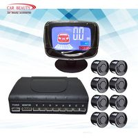 Auto Parktronic Parking Sensor With 8 Sensors Universal Auto Reverse Backup Parking Radar LCD Display Monitor Detector System