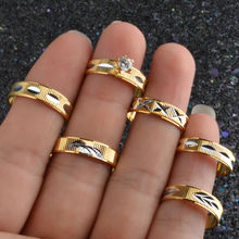 6pcs Engagement Wedding Rings CZ Diamond 18K Gold plated Fashion Brand Rhinestone Ring Jewelry For Women anel Wholesale