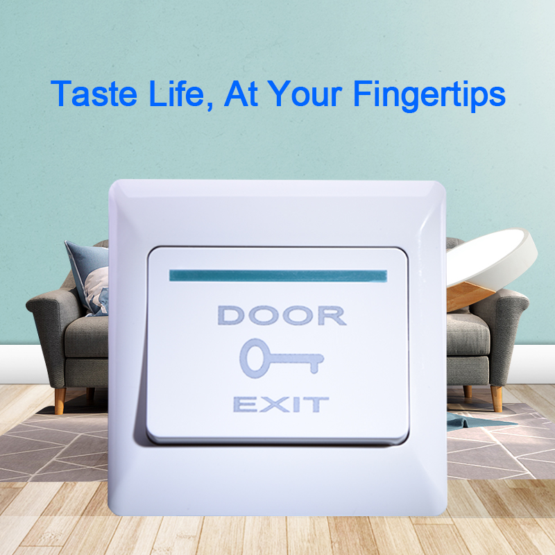 Eseye Door Access Control System EXIT button Access Control Home Security Protection NO COM Release Push Switch Exit Button