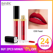 IMAGIC 2019 new hot waterproof lip gloss matte liquid lipstick lipkit cosmetics makeup nude 12color