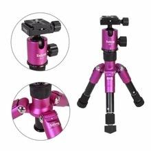 "Selens SE-mini 46.5cm / 18.2 ""DSLR 카메라 여행용 슈팅을위한 가벼운 무게의 볼 헤드가있는 로즈 핑크 삼각대 일각"