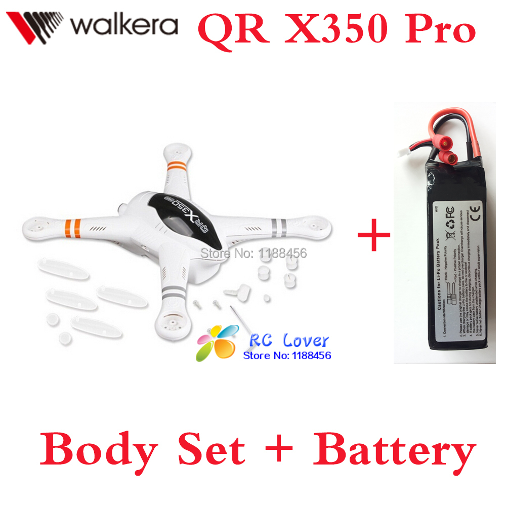 Original Walkera QR X350 Pro Body Set + Battery  11.1V 5200mAh Lipo battery Walkera qr x350 spare parts QR X350 PRO-Z-02 walkera qr x350 pro battery 11 1v 5200mah lipo battery qr x350 pro z 14 walkera qr x350 pro parts shipping by plane