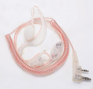 Image 2 - 10x G образные прозрачные наушники с ушным крючком, гарнитура для Kenwood Baofeng UV 5R BF 888S, 2 контакта, радио рация