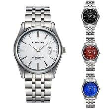 2017 Calendário de Aço Inoxidável Relógios Homens Top Famosa Marca De Luxo Negócio relógios de Pulso de Quartzo-relógio À Prova D' Água Relojes Hombre
