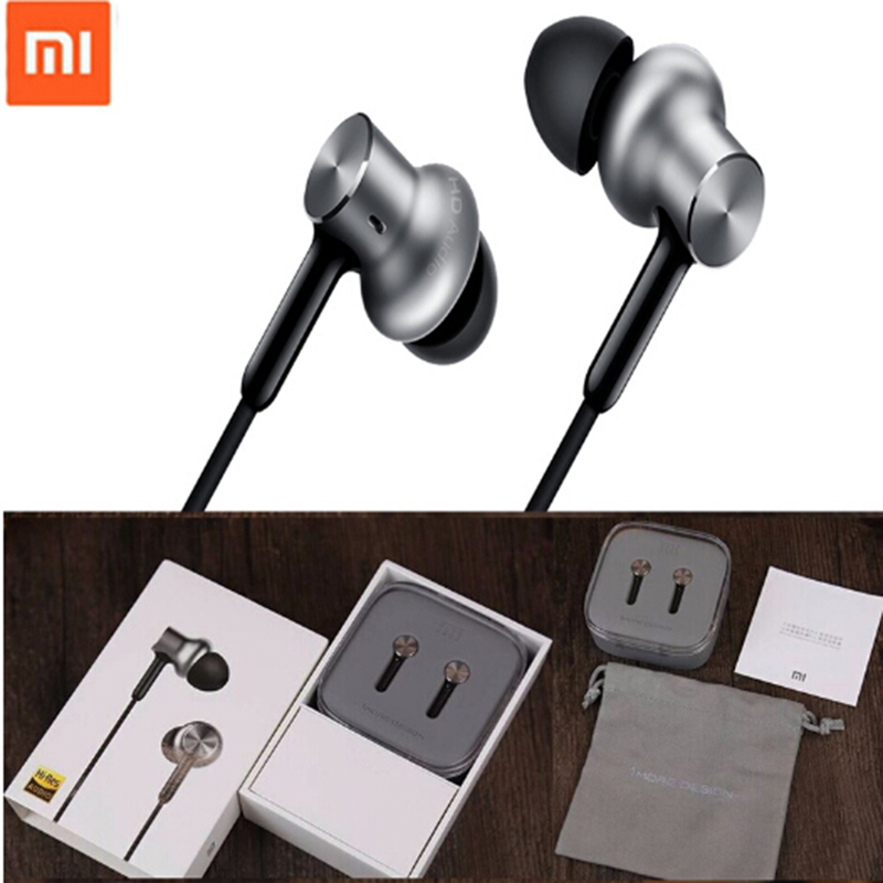 Original Xiaomi Hybrid pro Earphone Mi Piston with Unit Circle Iron Wire voice Control for iPhone 6s xiaomi sports Auriculares ��аушники xiaomi xiaomi m2 iphone samsung mp3 xiaomi piston earphone