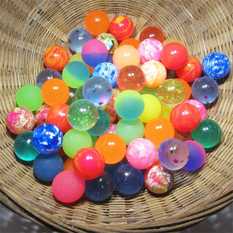 Funny Toy Balls Mixed Bouncy Ball Solid Floating Bouncing Child Elastic Rubber Ball Of Bouncy Toy 25MM