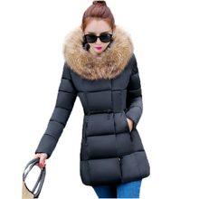 New Winter Women Collar Jacket Winter Coat Parkas Warm Hooded Jacket Snow Overcoat Women Winter Jacket Doudoune Femme PW0875