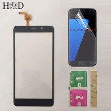 Touchscreen vidro dianteiro móvel para leagoo m8 pro, tela sensível ao toque digitador painel + película protetora
