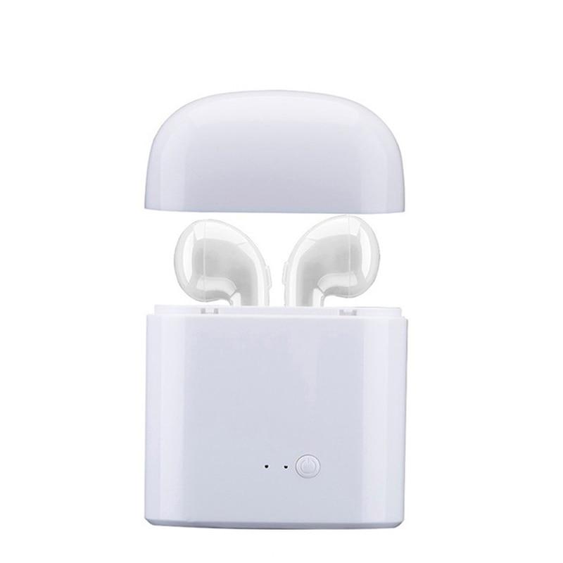 Qiateng TWS Bluetooth Earphone I7 Mini True Wireless Earbud Headset For Iphone Android I7 Headphones Earphones With Charging Box