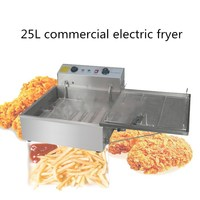 2017 new arrival 25L automatic electric fryer ,donut frying machine,commercial use stainless steel French fries fryer