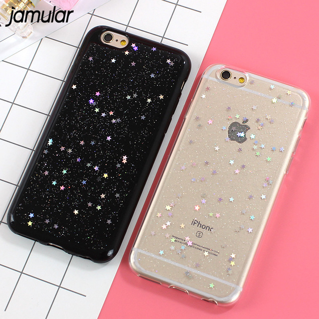 5abb471810 JAMULAR Case For iPhone X XS MAX XR Cases Bling Star Silicone Phone Back  Cover Cases for iPhone 7 8 6 6s Plus SE 5S Clear Cover