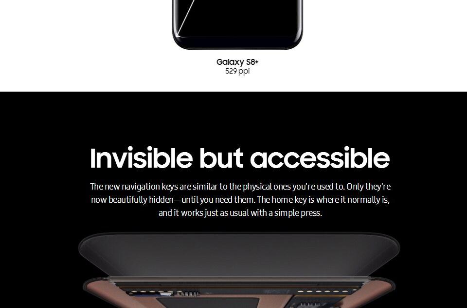 Original Samsung Galaxy S8+ S8 plus  6.2'' 12.0MP 4G RAM 64G ROM 4G LTE Octa c 4g+64g(single sim) 9