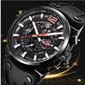 2019 BENYAR Brand Multifunction Chronograph Mens Watches Military leather Waterproof Quartz Black Sport Watch Relogio Masculino