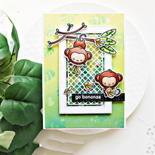 JC Rubber Stamps and Metal Cutting Dies for Scrapbooking Craft Monkey Banana Stencil Die Cut Clear Card Make Album Decor