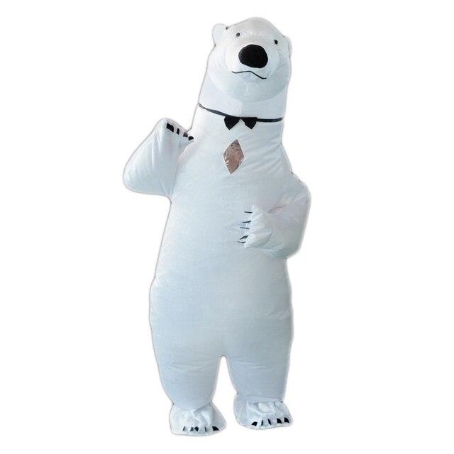 Purim Inflatable Polar Bear Costume Mascot Costumes Animal Fantasias Adult Christmas Halloween Birthday Party Cosplay Costume