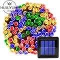 7/12/22M Chanukka-schmucksachen-blau Solar Powered Licht Outdoor Wasserdicht für Garten Hochzeit Dekoration Rasen Lampen Led String fee Pfad Lichter