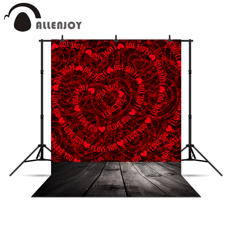 Allenjoy Photo background Love hearts wood floor wedding 10x10ft Vinyl background pictures allenjoy photography backdrops love white wood board floor red hearts branches valentine s day wedding photo booth profissional