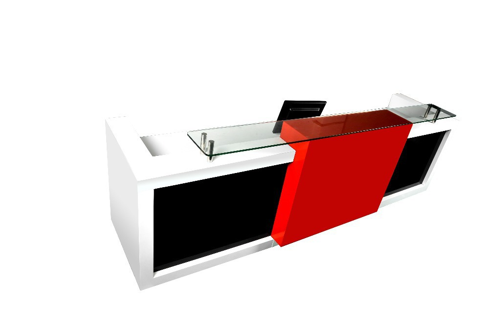 Customized 3m Long Popular And Fancy Elegant Display Office Front Reception  Desk Counter Furniture #QT3408 In Reception Desks From Furniture On ...