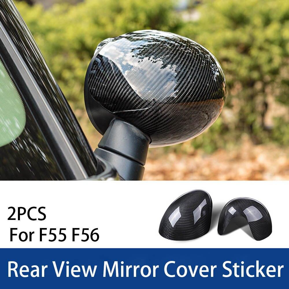 Extérieur en Fiber de carbone boîtier garniture pare-chocs rétroviseur antenne coque poignée couvercle pour MINI Cooper One d JCW F60 accessoires