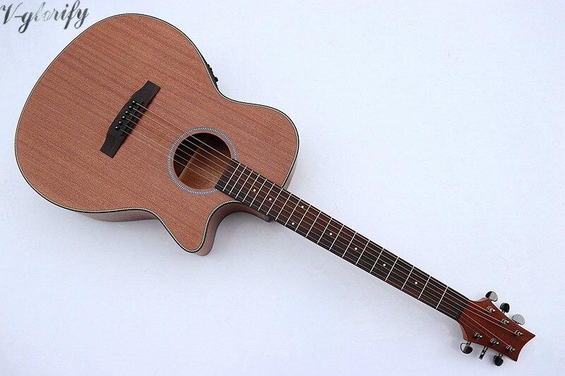 Guitare acoustique de 40 pouces en acajou