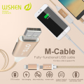 WSKEN Full Functional 2in1 Micro USB And iOS 8Pin Cable OTG Charging To Share Power Between Two Smartphones Data Cable