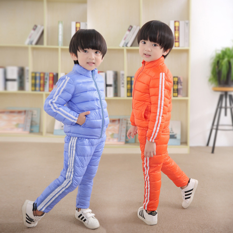 Russia Children Winter Clothing Set Cindy Color Kids Cotton-padded Coat +  Pants 2PCS Boy Girl Warm Down and Trousers suit конструктор конструктор забияка эврики 1200830