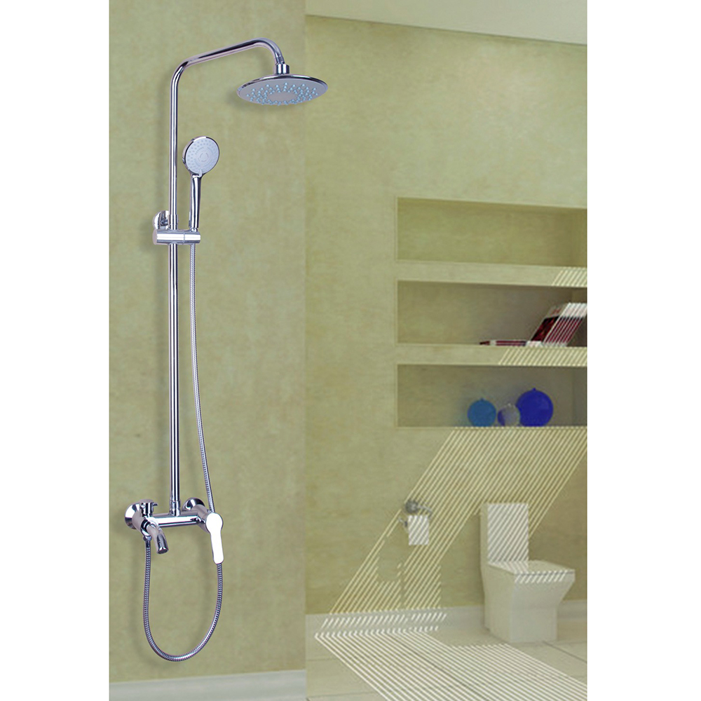 Luxury Novel Design Shower Faucet Chrome Polished Wall Mounted Hot Cold Water Mixer Excellent Beautiful  Bathroom Faucet china sanitary ware chrome wall mount thermostatic water tap water saver thermostatic shower faucet