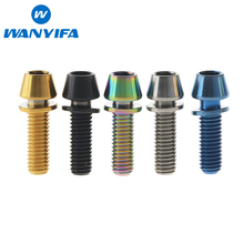 6Pcs Titanium Ti M5 x 16mm Allen Hex Tapered Head Bolts With Washer Screw For Bicycle Stem