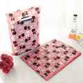 100pcs/lot Pink Black Dog Pattern Plastic Handle Gift Bags 15x20cm Jewelry Gift Plastic Gift Bag With Handle  H027