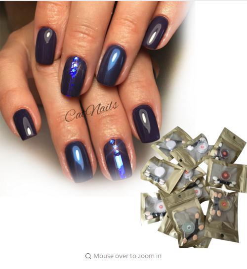12colors Set Magic Mirror Effect Nail Powder Chrome Pigment Glitters Art Tool Polish In Glitter From Beauty