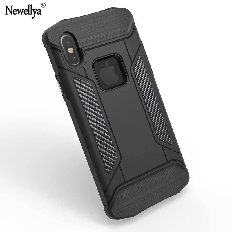 Newellya Fitted Case For Apple iPhone X Armor Plastic Silicon for iphone Ten 10 Mobile Phone Housings Bags Cases for iPhone X