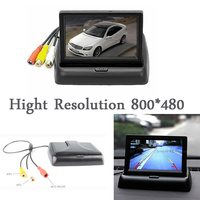 Free Shipping HDMI 4 3 TFT LCD Car Reverse Rear View Monitor FOR DVD Camera Foldable