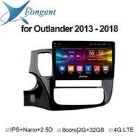 Для Mitsubishi Outlander 2013 2014 2015 2016 2017 2018 Android блок автомобильный DVD GPS навигатор 1 2 Din радио Multimdia видео плеер