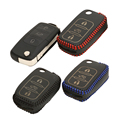 Cover Car Key Case For Volkswagen Vw Jetta Golf Passat Beetle Polo Bora Leather Protector 3 Button car key cover Key case